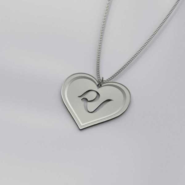 Red Velvet Logo Heart Charm Necklace