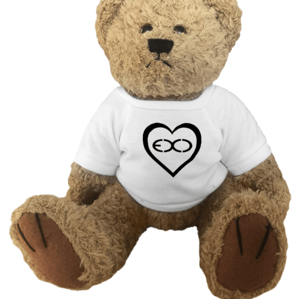 EXO Logo Heart Teddy Bear