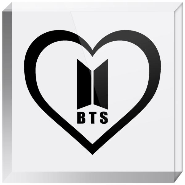 BTS Logo Acrylic Blocks
