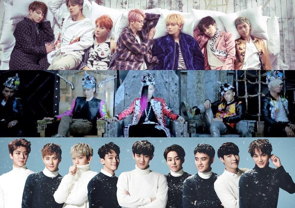 "BTS، BIG BANG، EXO وستة فرق كورية أخرى تدخل قائمة ""أعظم 100 أغنية لفرق الذكور حتى الآن"" لبيلبورد!"
