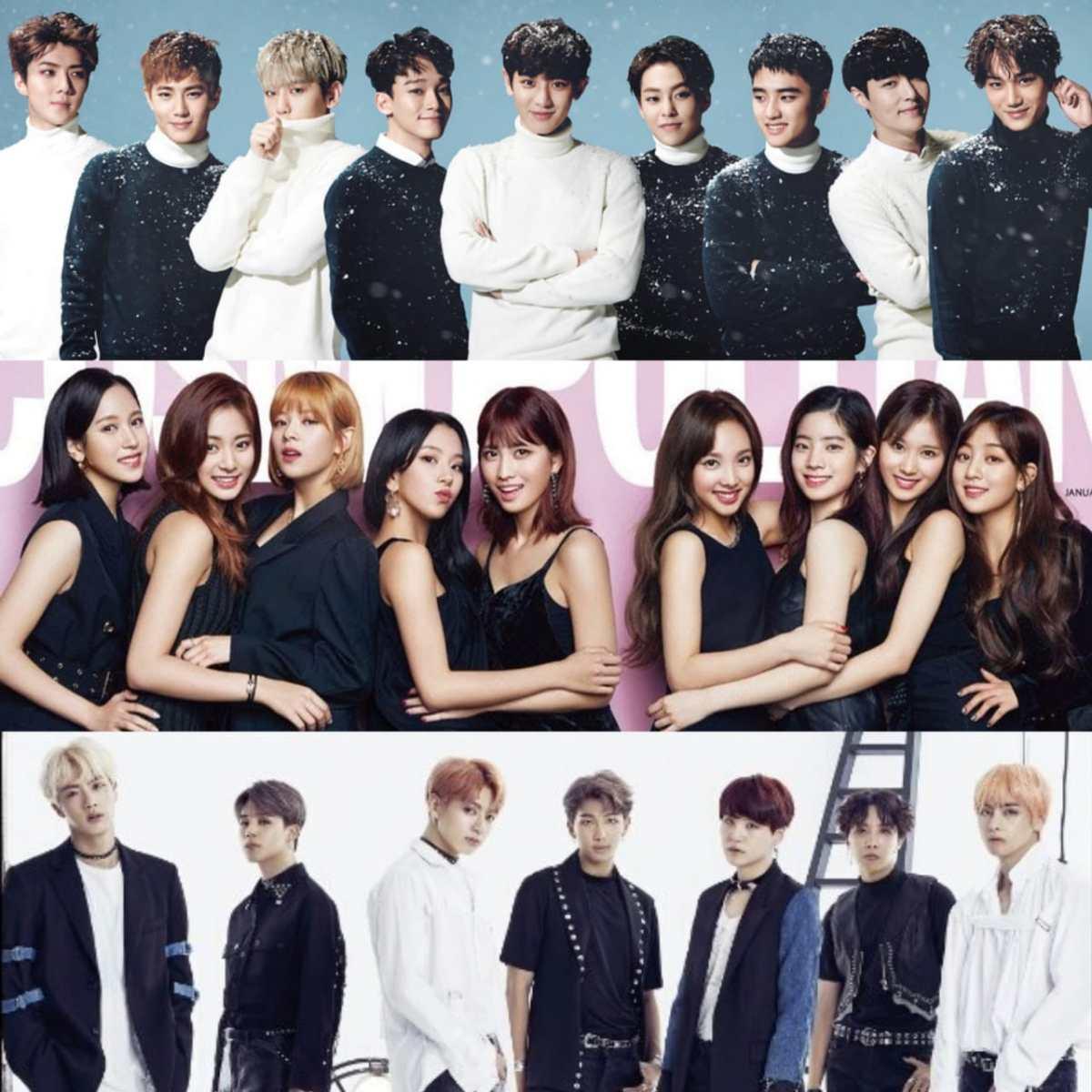 EXO، TWICE وBTS سيشاركون في حفل SBS غايو ديجون 2018