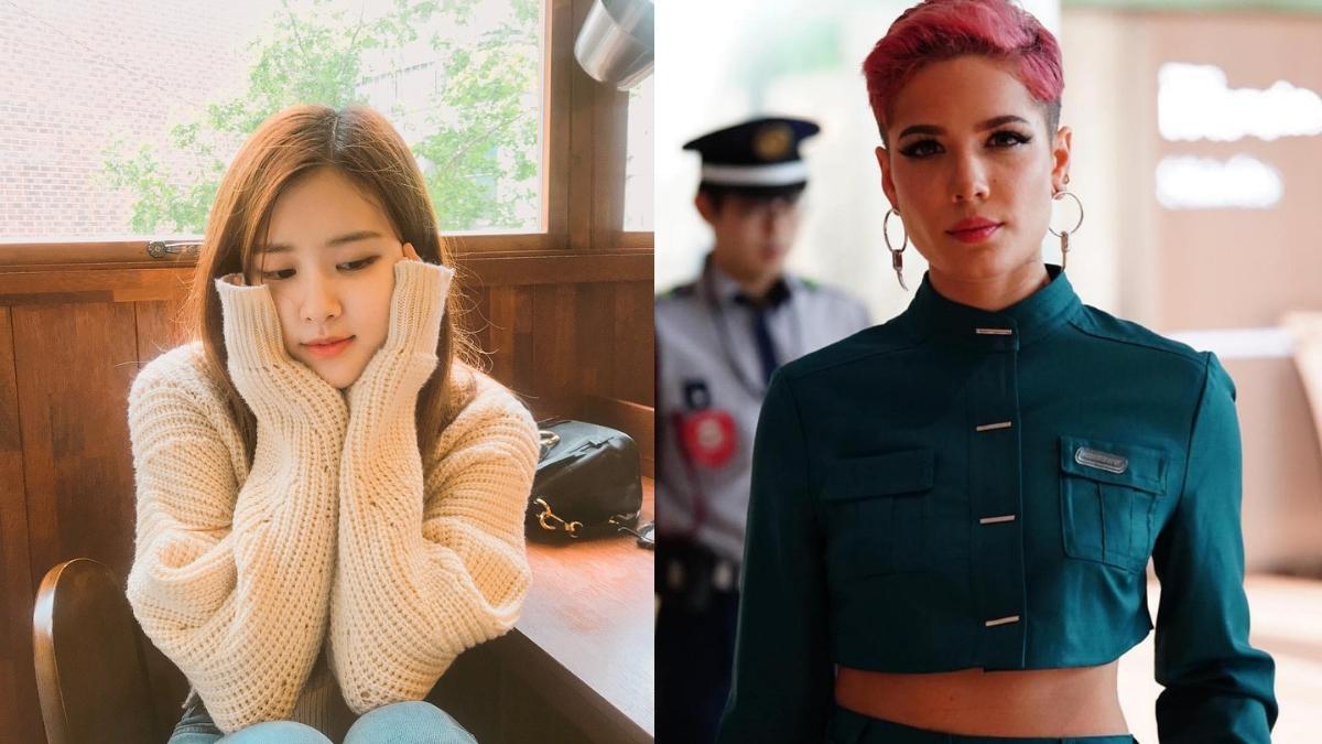 روزي من BlackPink و Halsey يُشاركن ردودًا رائعة بالكورية لبعضهن على الانستغرام!