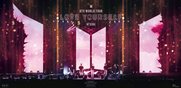 """إصدار فيلم حفل """"Love Yourself In Seoul"""" لفرقة BTS سيكون أضخم حدث سينمائي في التاريخ"""