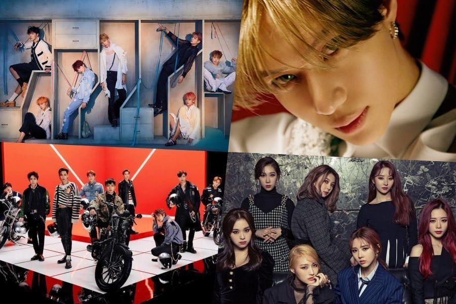 BTS، تيمين، EXO، DreamCatcher والمزيد من الفرق الكورية تتصدر مخطط بيلبورد للألبومات العالمية