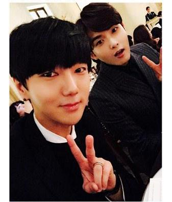 Yesung and Ryeowook at the wedding