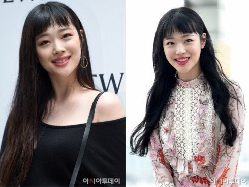 Korean kpop girl group fx sulli choppy bangs hairstyle for girls