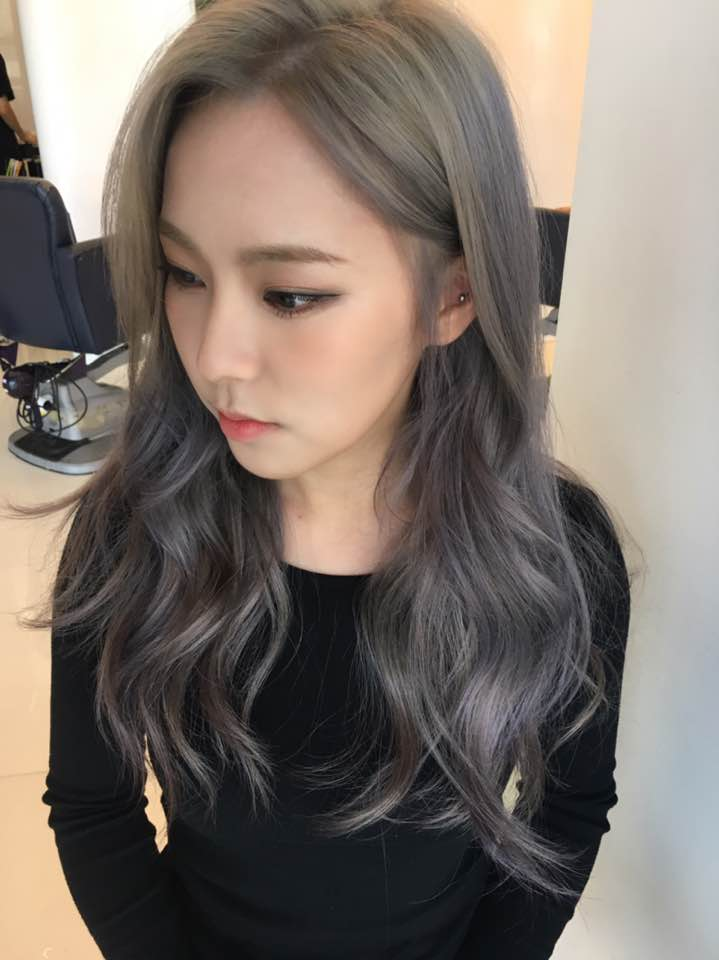 Lavender Ash Brown 2017 hair color trend trending hairstyles for girls kpopstuff