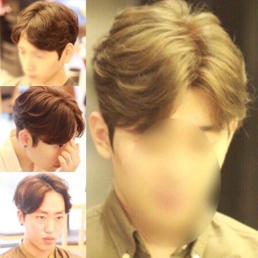 kpop korean guy hairstyles 5:5 hair part styles