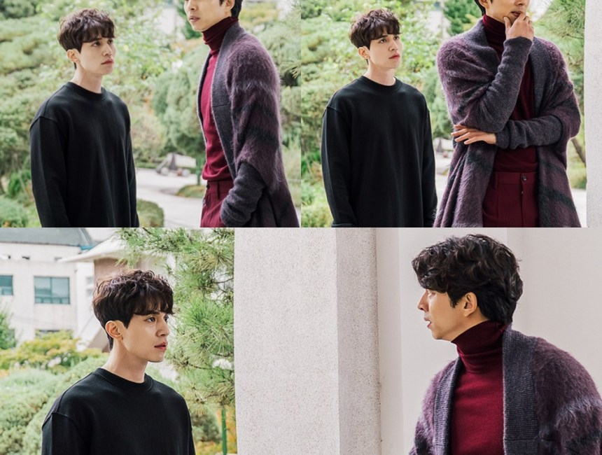 korean drama kdrama goblin actor lee dong wook grim reaper role wavy permed hairstyle hair for guys men kpopstuff asian