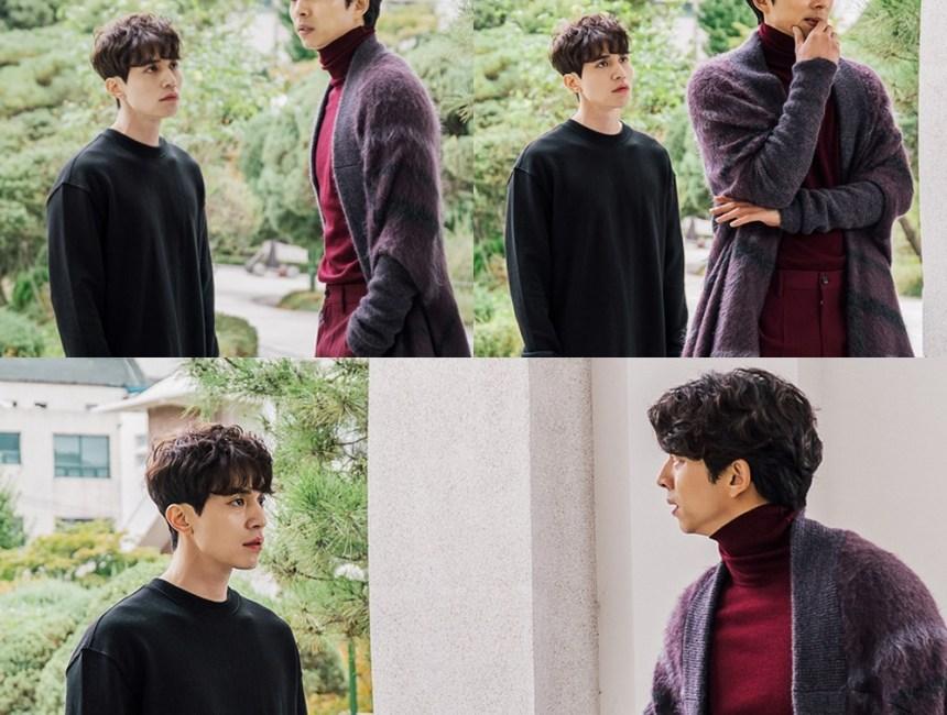 korean drama kdrama goblin actor lee dong wook grim reaper role wavy permed hairstyle hair for guys men kpopstuff asian