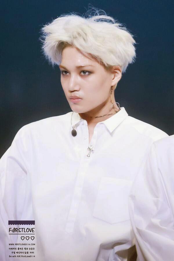 korea korean kpop idol boy band group EXO exo-k kai anime inspired white hairstyles for guys kpopstuff