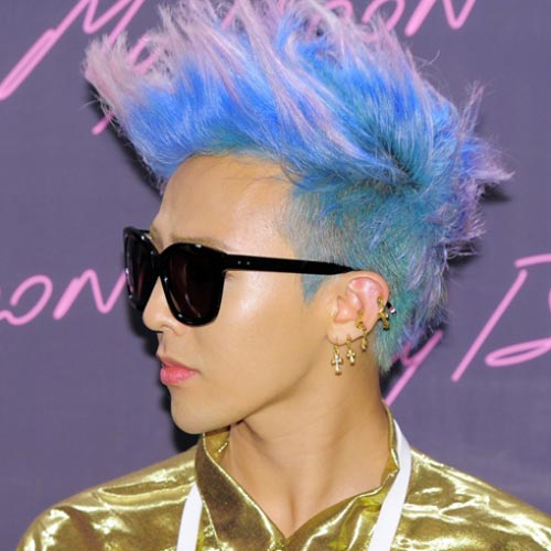 korean kpop idol boy band group big bang gdragon GD cotton candy dyed hair hairstyles for guys kpopstuff