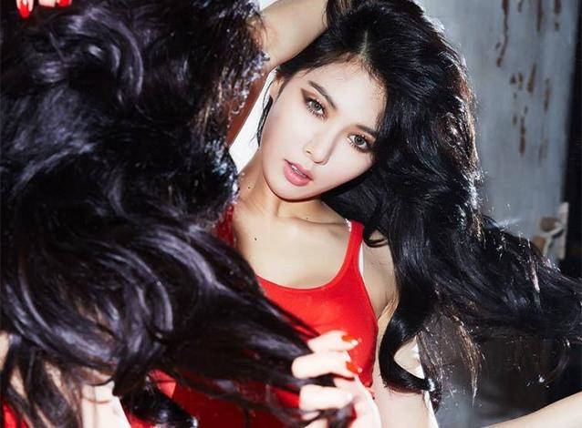 korean kpop idol girl group 4minute hyuna jet black hair hairstyles for girls kpopstuff