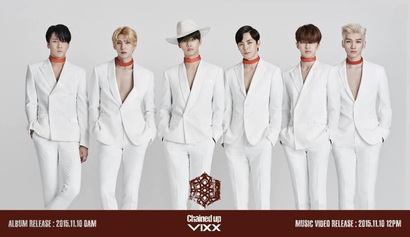 korea korean kpop idol boy band group vixx choker fashion chained up mv with chokers for guys kpopstuff