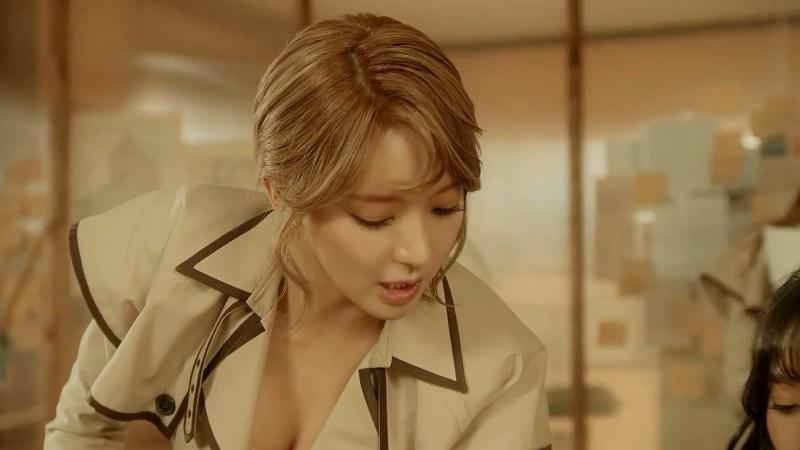 korea korean kpop idol girl band group aoa choa's new lob hair excuse me updo hairstyles for girls kpopstuff