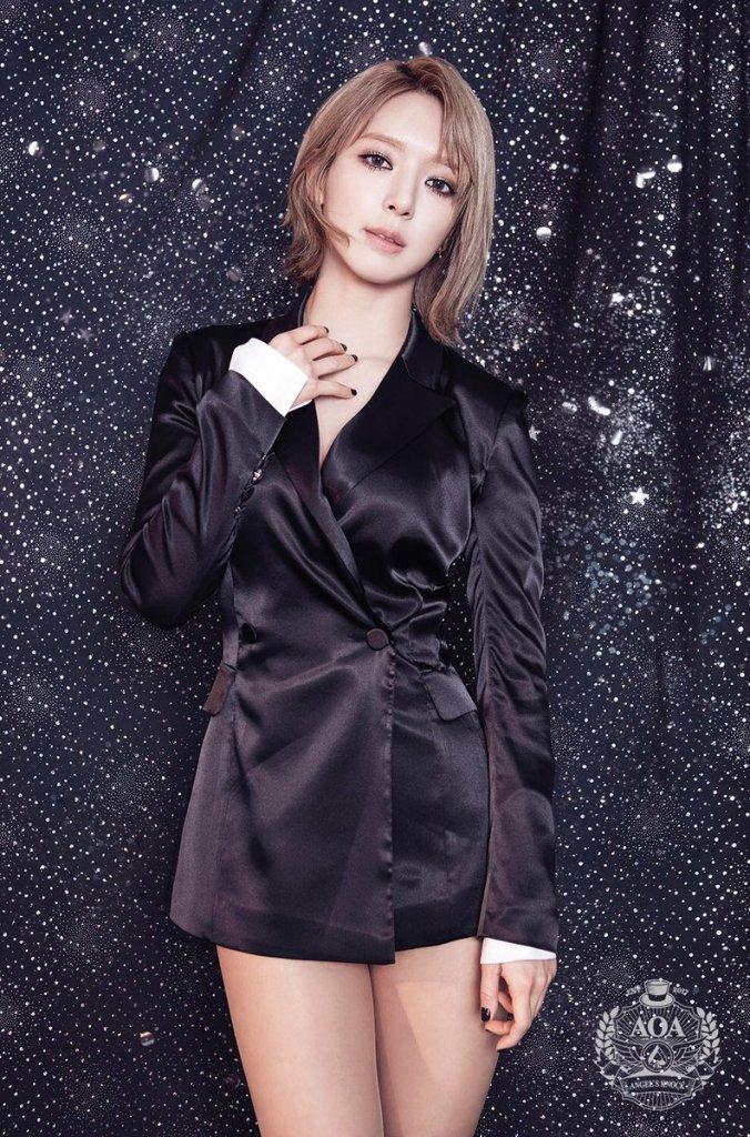 korea korean kpop idol girl group band aoa choa's new lob hair excuse me bing bing grown out short haircut hairstyles for girls kpopstuff