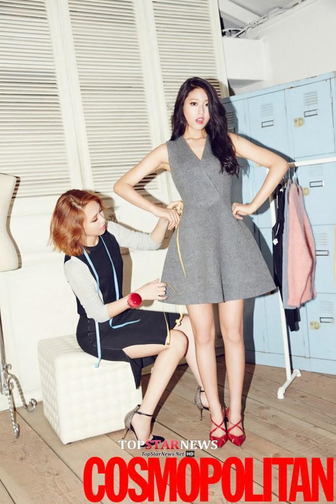 korea korean kpop idol girl band group aoa seolhyun's dress fashion grey outfits style for girls kpopstuff