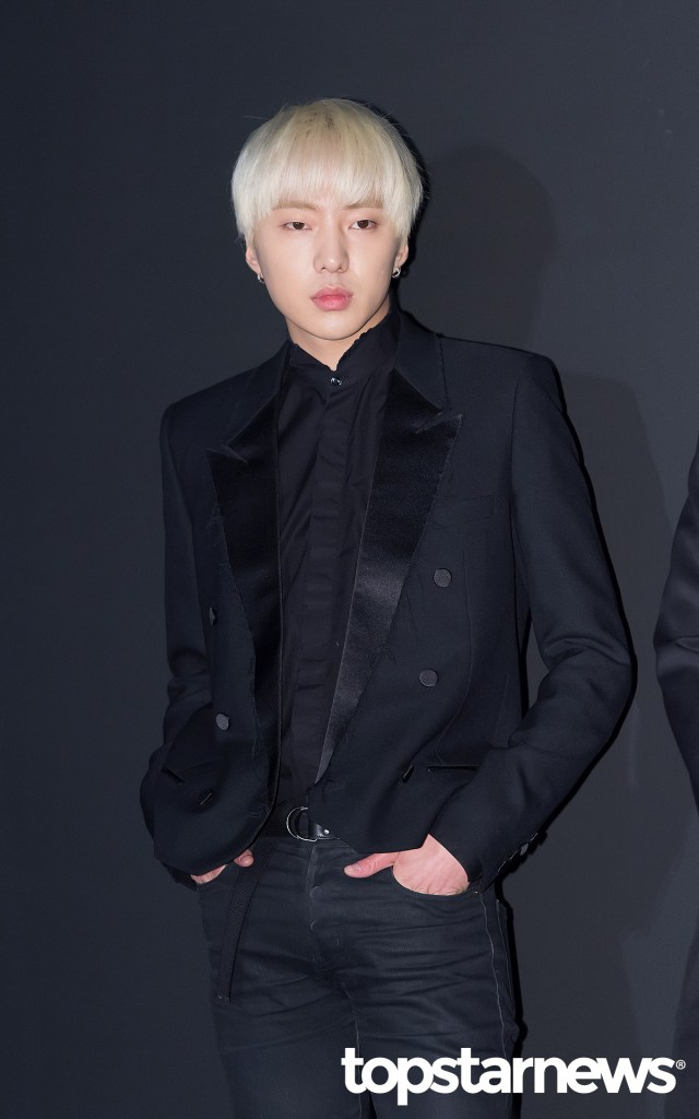 korea korean drama kdrama actor kpop idol winner mino and seungyoon at saint laurent event black outfits chic suit formal for guys men kpopstuff