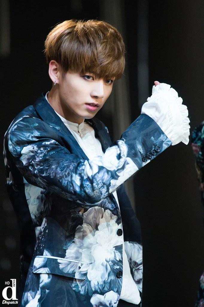 korea korean kpop idol boy band group BTS blood, sweat, tears printed suits jungkook white lilac blue english suit formal pattern style fashion guys kpopstuff