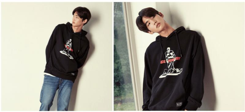 korea korean kpop idol boy band group Got7's hard carry hoodies black go hard sweater model casual street fashion guys kpopstuff