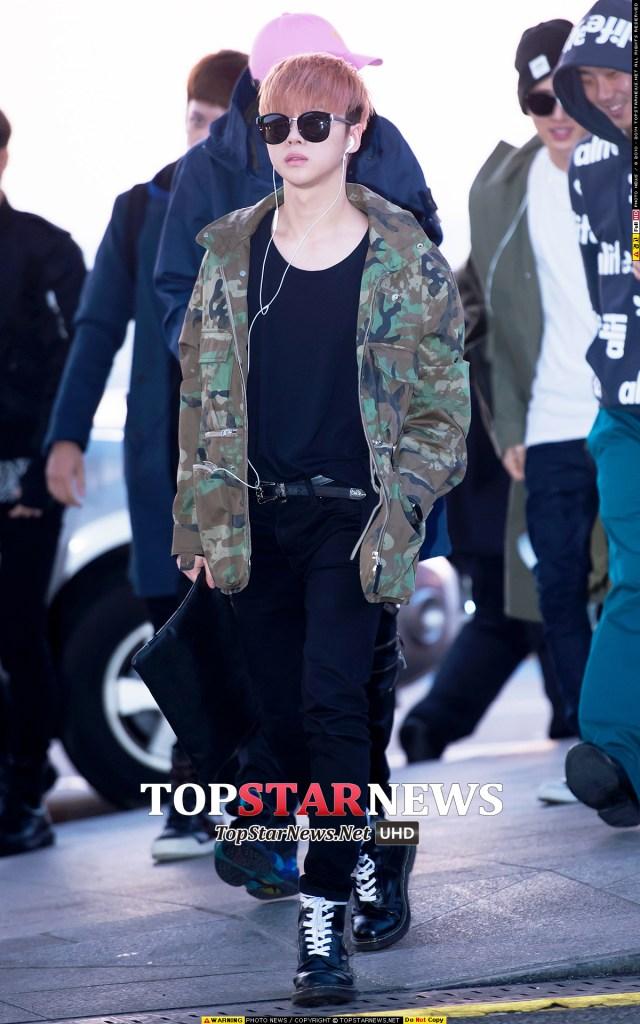 korea korean kpop idol boy band group ikon fashion favorites jinhwan military black doc martens airport looks outfits for guys kpopstuff