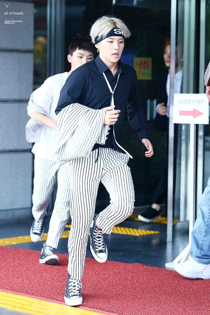 korea korean kpop idol boy band group seventeen hoshi's headband looks bandana supreme hair band fashion hairstyles for guys kpopstuff