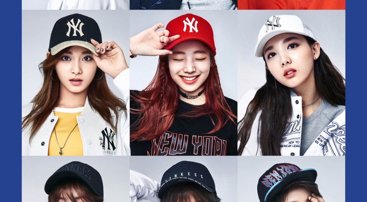 korea korean kpop idol girl group band twice's sporty looks mlb korea cap sporty baseball streetwear casual hip hop inspired fashion outfits for girls kpopstuff ma
