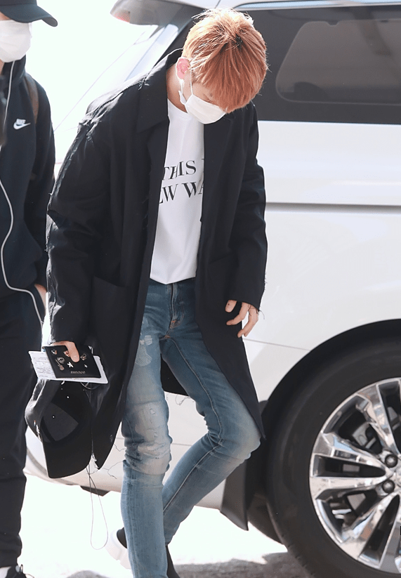 Exo Baekhyun S Airport Fashion The Perfect T Kpop Korean Hair