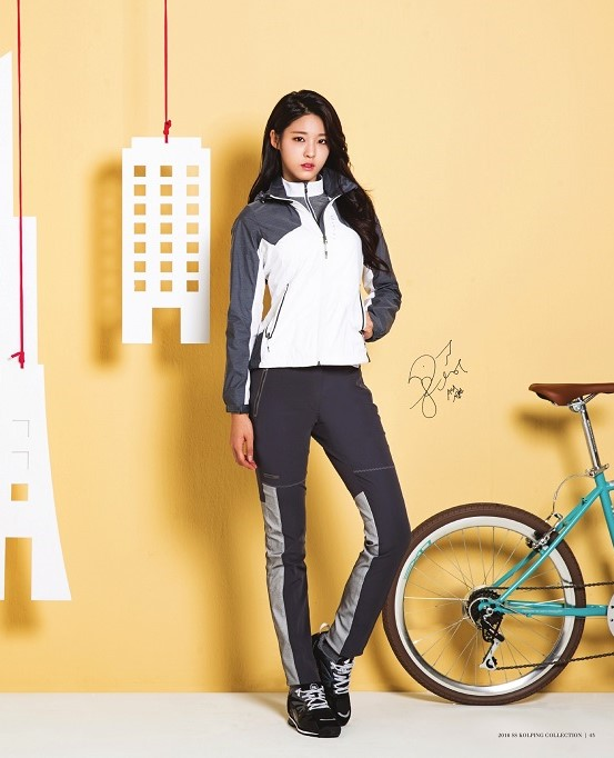 korea korean kpop idol girl group band aoa seolhyun's workout fashion looks outdoor hiking gym style exercise outfit for girls kpopstuff