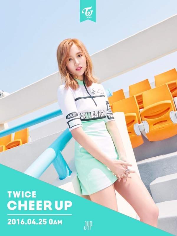 korea korean kpop idol girl group band twice mina's hair timeline cheer up blonde light dye color lob hairstyles girls women kpopstuff