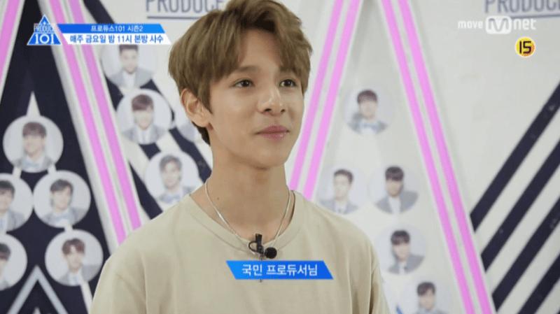 korea korean kpop idol boy band grou produce 101 season 2 kim samuel's hair looks light brown no bangs hairstyles guys boys men kpopstuff