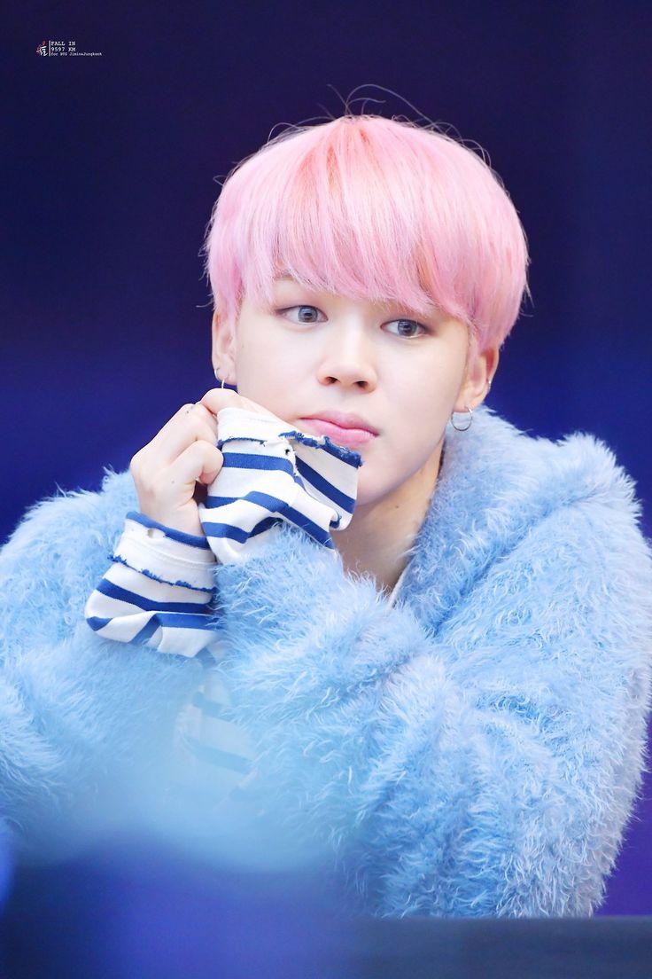 Bts Jimin S Pink Hair Color Kpop Korean Hair And Style