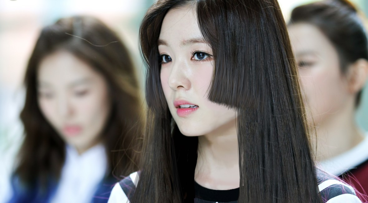 Red velvet Irene hime cut short king hairstyle haircut pop korean idol