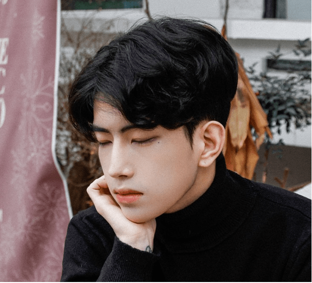 Korea Korean Kpop Idol Artist Group Male Model Parting Perm With Two Block Haircut Cut Hairstyles