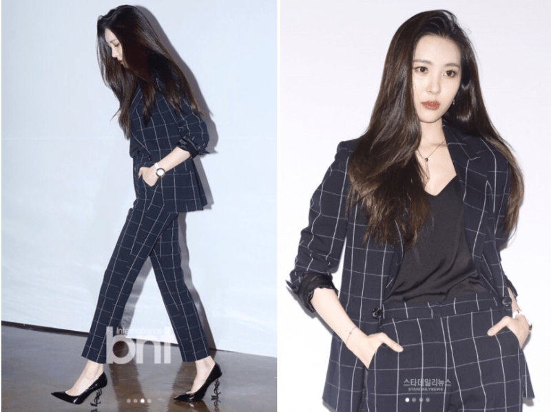 korea korean kpop idol girl group band gashina sunmi's fashion looks business casual suit formal outfits style girls women kpopstuff