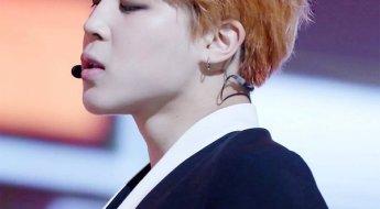 korea korean kpop idol boy band group bangtan boys bts jimin's best hairstyles orange brown dyed hair for guys men perfect man kpopstuff