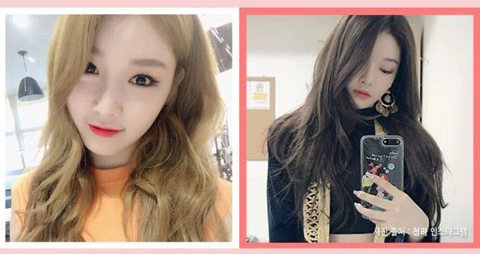 korea korean kpop idol girl group band ioi chungha matte brown darker kpop hair looks winter trends girls hairstyles women kpopstuff
