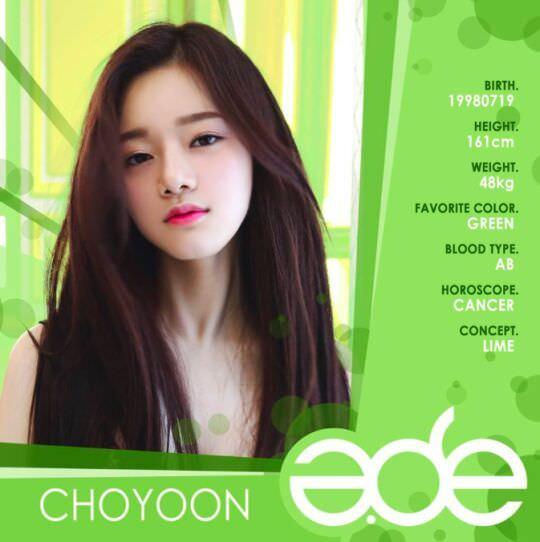 Thông tin thành viên Choyoon - A.DE