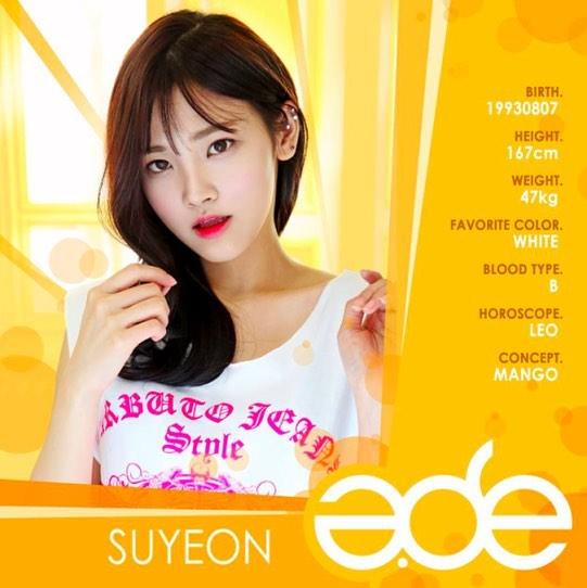 Thông tin thành viên Suyeon - A.DE