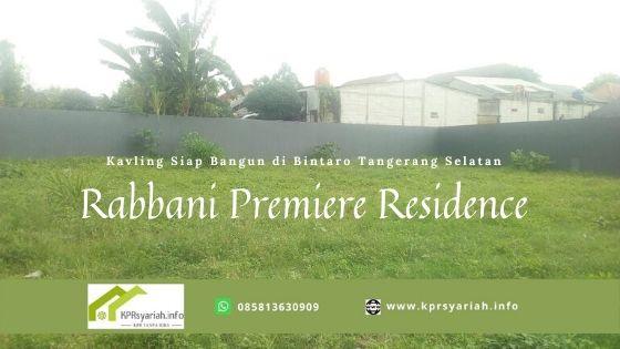 Kavling Syariah Bintaro Rabbani Premiere Residence