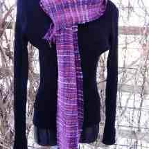 scarf chenille purples 15.23