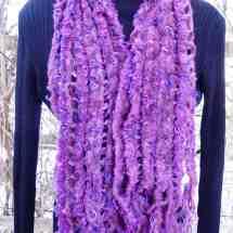 scarf double weave purple 14.34