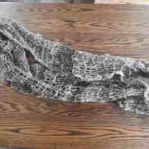 cowl, handspun, handknit brown 17.72