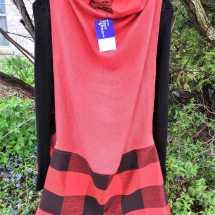 pieced wrap red black 19.93b