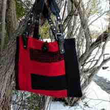 purse with handles black red 16.39a
