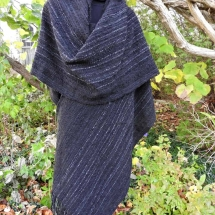 shawl, sewn blacks 16.86a