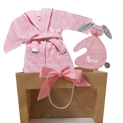 Kraamcadeau tas baby roze