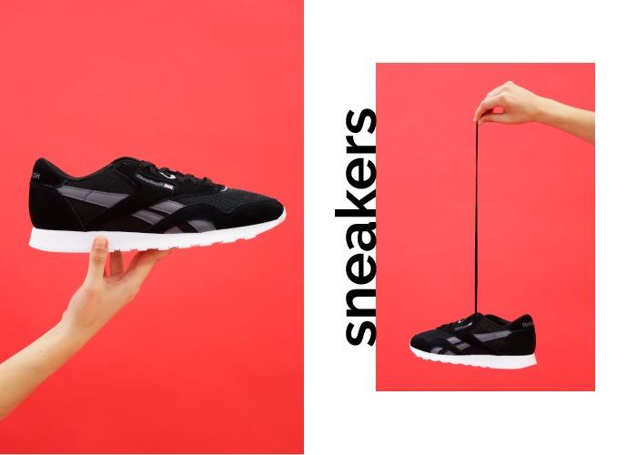 calzado rebajas hombre zapatillas deportivas sneakers negras de cordones reebok