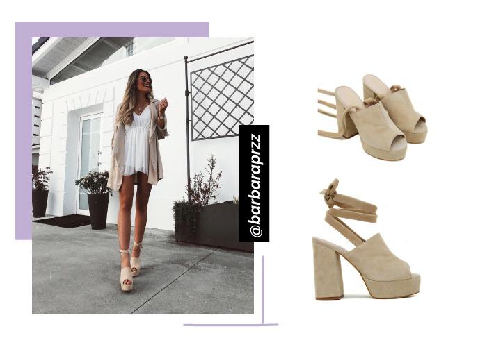 looks influencer barbaraprzz con zapatos de tacon con lazada smooth beige de krack core by sarabace2