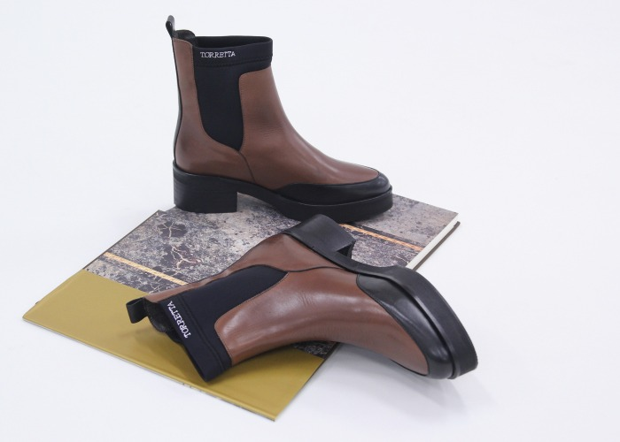coleccion exclusiva roberto torreta botas bicolor marrones krack